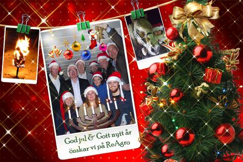God Jul önskar vi på Reagro