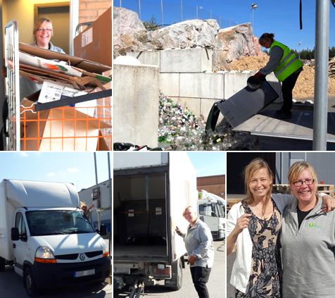Helena från ReAgro möter Majsan Brolin som arbetar i städ- och återvinningsbranschen.