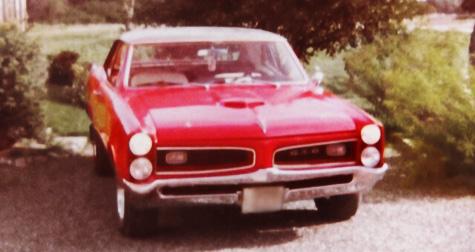 Mats Bloms första amerikanare - en Pontiac GTO 1966 års modell.
