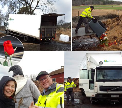 Helena från ReAgro möter Tomas Andersson, lantbrukare och återvinningsentreprenör.