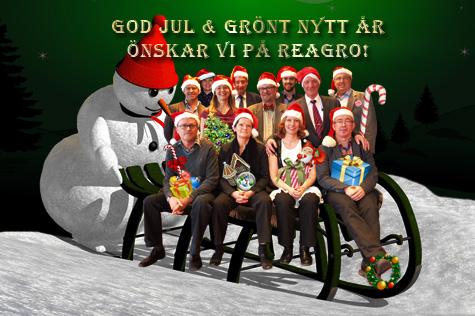 God jul o Gott nytt år önskar Reagro