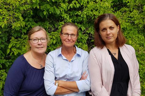 Majsan Brolin, Helena Bolsöy och Marie Anderbrant