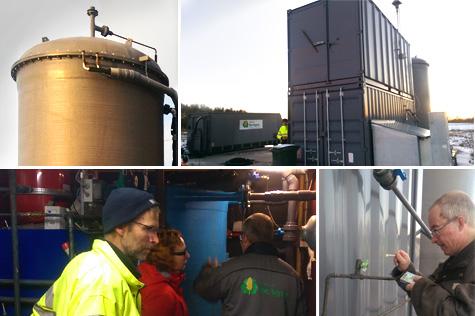Nossan Biogas i Nossebro, Västergötland